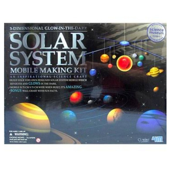Solar System Mobile kit Glow in the Dark NWT